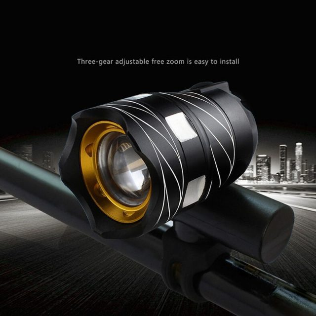 Adjustable LED Bicycle Light with USB Rechargeable Built-in Battery