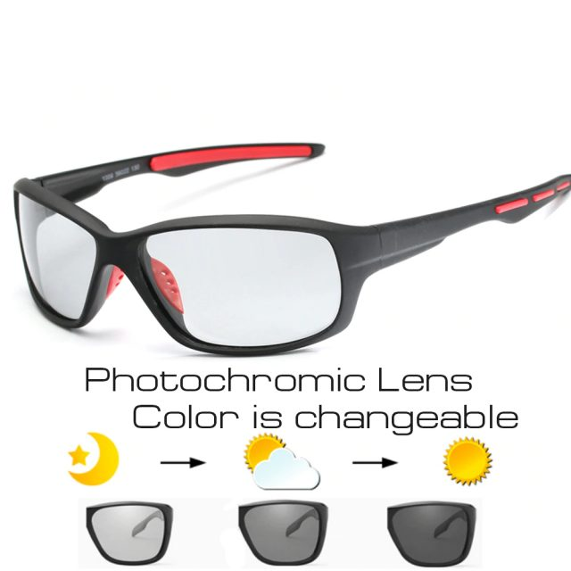 Sport Photochromic Polarized Cycling Glasses