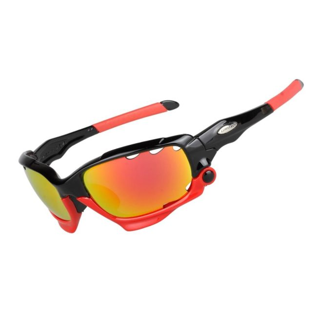 Lightweight Adjustable Polarized Bicycle Glasses with 3 Lenses