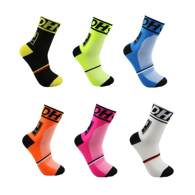 Professional Sports Thin Breathable Cotton Cycling Socks