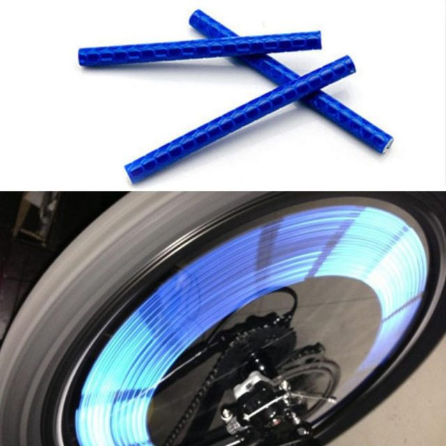 Bike Accessories 24pcs Cycling Bike Wheel Spoke Reflector Clips Reflective Warning Strip Tube Bisiklet Aksesuar Fiets Bycicle