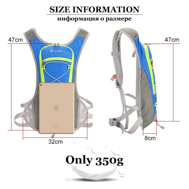 8L Nylon Vest Backpack Sports Hydration Cycling Running